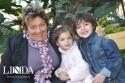 Venina Bernardi com os netos Penélope e Pitágoras