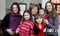 Sofia Cauduro e Letícia Clainn com Claudia Effel, Dorilei Motta Clain, Ana Carina Motta Clain e Rafael Motta Clain