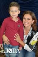 Samuel com sua mãe Carolina Rockemback