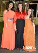 Liziane Larrondo com as filhas Alice e Julia Larrondo Nazário